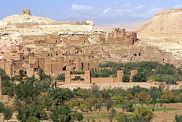 View across the Ait Ben Haddou kasbah near Ouarzazate in Morocco