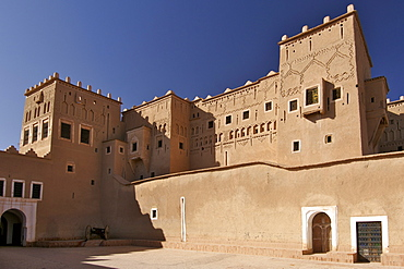 Exterior of the Kasbah Taourirt in Ouarzazate, Morocco