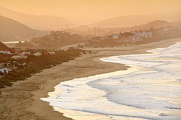 View of the beach and town of Wilderness on the Garden Route in Western Cape Province, South Africa, Africa