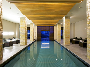 Swimming pool in the spa at the Pezula Resort in Knysna on the Garden Route, Western Cape, South Africa, Africa