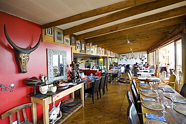 The restaurant at Emily Moon Lodge in Plettenberg Bay on the Garden Route, Western Cape, South Africa, Africa