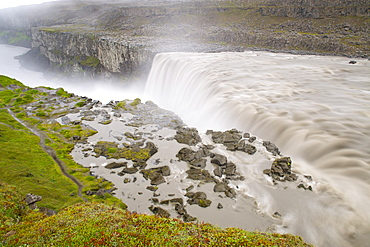 Dettifoss waterfall near Myvatn in Vatnajokull National Park, northeast area, Iceland, Polar Regions