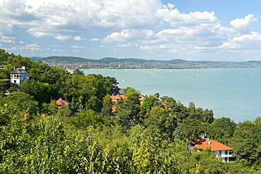 View across Lake Balaton from Tihany, Hungary, Europe