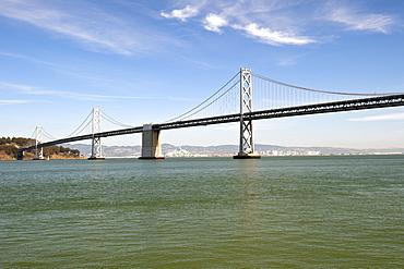 The Oakland Bay Bridge spanning San Francisco Bay in California, United States of America, North America