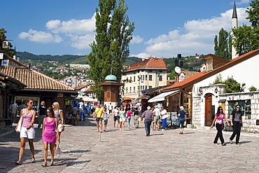 The Bascarsija (bazaar) in Sarajevo, Bosnia and Herzegovina, Europe