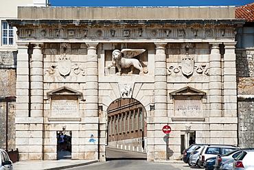Kopnena Vrata, the Land Gate to the old town of Zadar, Adriatic coast, Croatia, Europe