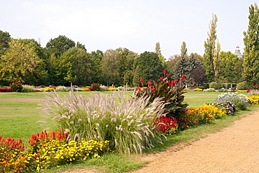 Public gardens on Margaret Island on the Danube River in Budapest, Hungary, Europe
