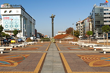 The Statue of St. Sofia in Nezavisimost (Independence) Square in Sofia, the capital of Bulgaria, Europe