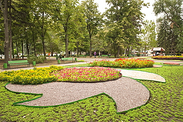 Parcul Stefan cel Mare (Stephen the Great Park) in Chisinau, the capital of Moldova, Europe