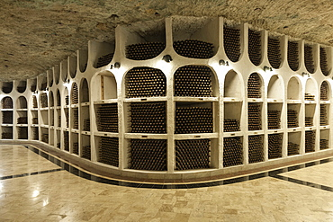 Interior of Cricova wine cellar near Chisinau, Moldova, Europe