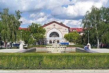 The train station in Chisinau, the capital of Moldova, Europe