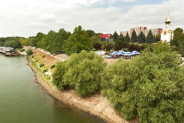 The Dniester River in Tiraspol, Transnistria, Moldova, Europe