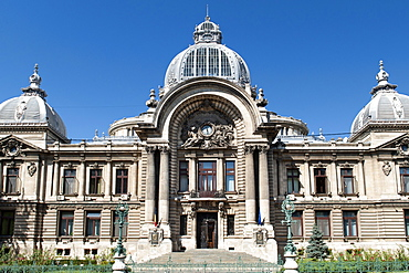 The CEC palace, built in 1900, headquarters of the national savings bank, Bucharest, Romania, Europe