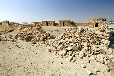 Remains of a ruined village near the Al Khor fishing village in Qatar.