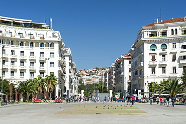 Aristotelous Square in Thessaloniki, Greece, Europe