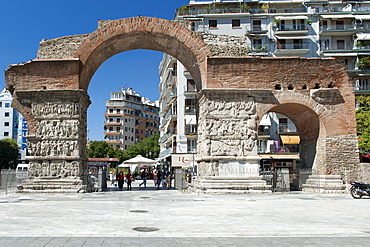 Remains of the Arch of Galerius (Kamara), a 4th century monument in Thessaloniki, Greece, Europe
