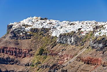 Houses of Imerovigli on the Greek island of Santorini, Cyclades, Greek Islands, Greece, Europe