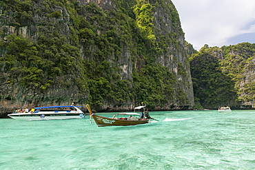 Phi Ley bay, part of Koh Phi Phi Ley island in Thailand.