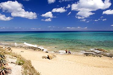The beach at Ponta da Calheta on the Portuguese Atlantic island of Porto Santo.