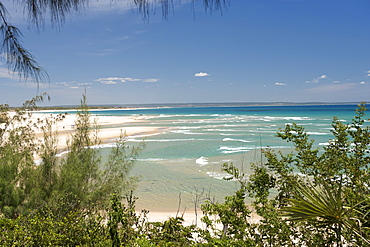 View along the coast at Barra beach near Inhambane in southern Mozambique.