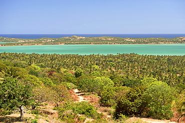 View of the coast near Quissico Zavala in southern Mozambique.