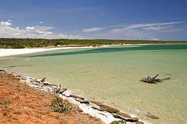 View along the Indian Ocean coast near Inharrime in southern Mozambique.