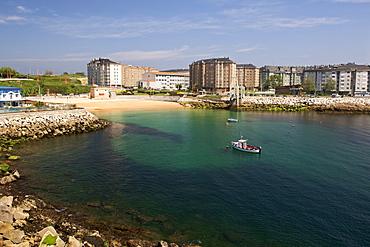 Playa de San Amaro beach in the town of La Corun~a in Spain's Galicia region.