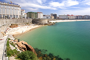 The Playa del Matadero beach in the town of La Corun~a along the Atlantic coast of Spain's Galicia region.