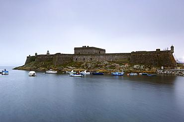 The Castillo de San Anto´n fort in the harbour area of the town of La Corun~a in Spain's Galicia region.