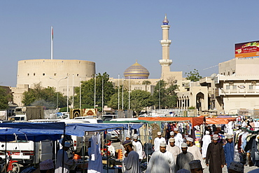 The outdoor souk in Nizwa in the Sultanate of Oman.