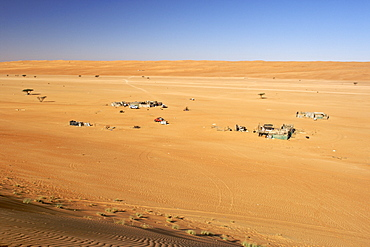 Bedouin settlement in Wahiba Sands (Ramlat al Wahaybah) in Oman.