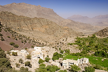 The village of Hadash in the mountains of Jebel Akhdar in Oman.