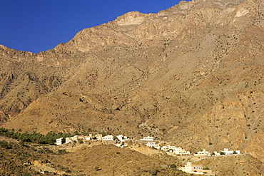 A village in the mountains of Jebel Akhdar in Oman.