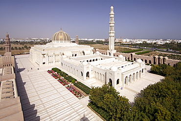 The Sultan Qaboos Grand Mosque in Muscat, the capital of Oman.