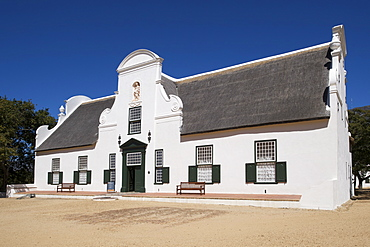 The manor house at Groot Constantia wine estate in Cape Town, South Africa.