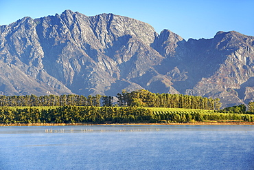 Dawn view of Theewaterskloof dam, Western Cape Province, South Africa.