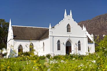 NG Kerk (Dutch Reformed church) in Franschhoek, Western Cape Province, South Africa.