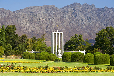The Huguenot monument in the town of Franschhoek, Western Cape Province, South Africa.