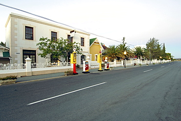 A dusk view down the main street in the small town of Matjiesfontein in the Karoo in South Africa's Western Cape Province.