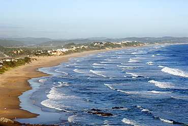The Wilderness beach and the Indian Ocean on South Africa's Garden Route coastline.