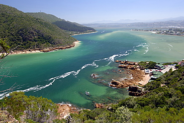 The Knysna lagoon on the Garden Route in South Africa.