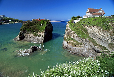 The Island off Towan Beach, Newquay, Cornwall, England, United Kingdom, Europe