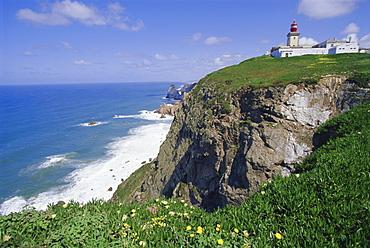 Cabo da Roca, Europe's westernmost point, Sintra-Cascais Natural Park, Estremadura, Portugal, Europe