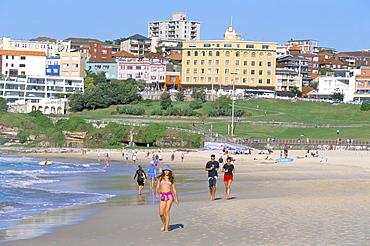 Morning exercises at Bondi beach, Sydney, New South Wales, Australia, Pacific