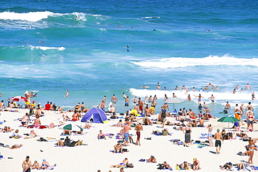 The beach at Tamarama, south of Bondi in the eastern suburbs, Sydney, New South Wales, Australia, Pacific
