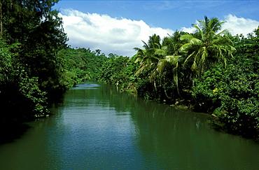 River on the east coast of Efate Island, Efate Island, Vanuatu