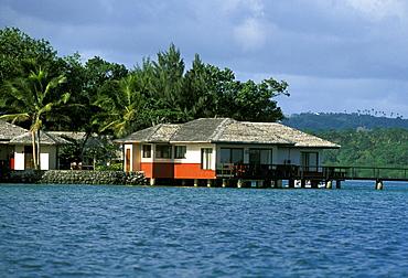 Waterfront bungalow at the luxury Lagoon Park Royal on Erakor Lagoon, close to the capital Port Vila, Efate Island, Vanuatu