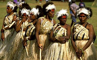 Women from the island of Erromango at a Melanesian cultural festival, Efate Island, Port Vila, Vanuatu