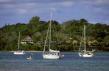 Yachts on Vila Bay, Efate Island, Port Vila, VanuatuVANUATU.