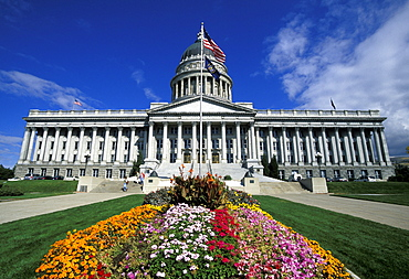 The Utah State Capitol Building, completed at a cost of 2.7 million dollars in 1916, its rotunda is 165ft tall, the building is home of the Senate and House of Representatives, Salt Lake City, Utah, United States of America (USA), North America